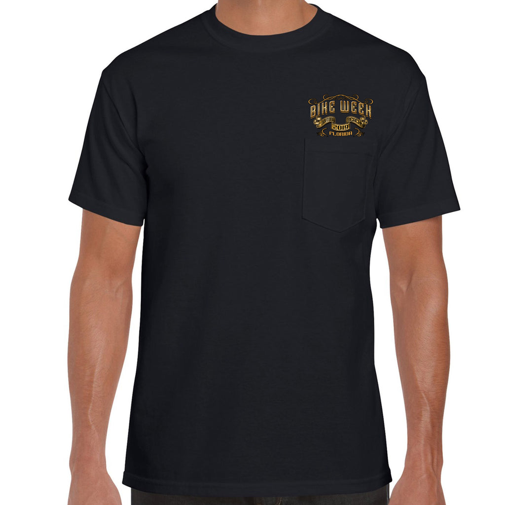 2019 Bike Week Daytona Beach Main Street Engine Pocket T-Shirt
