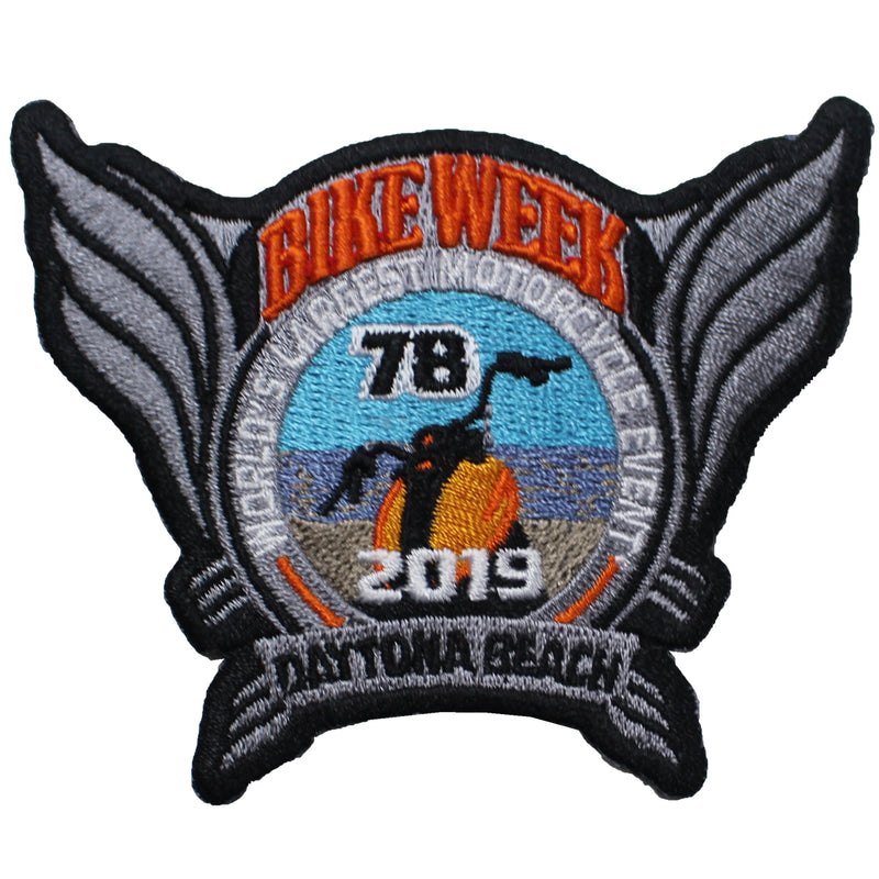2019 Bike Week Daytona Beach Official Logo Patch