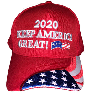 Trump 2020 Keep America Great Red Flag Hat