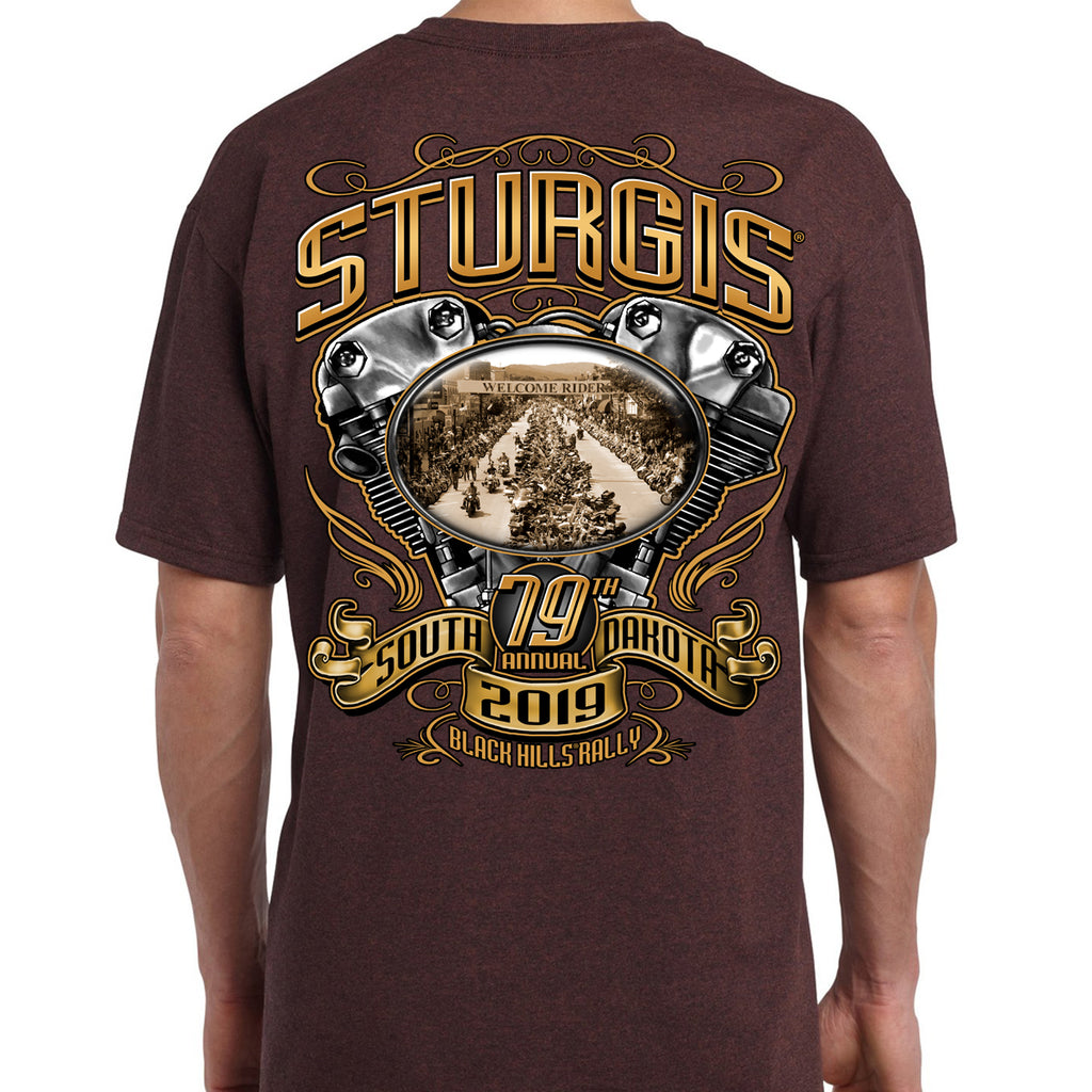 2019 Sturgis Black Hills Rally Main Street Engine T-Shirt