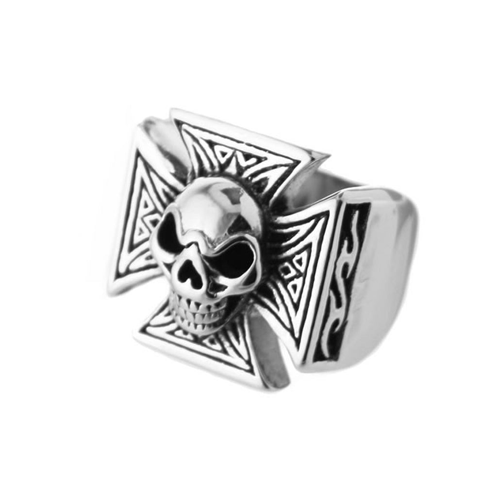 Chopper Skull Stainless Steel Biker Ring