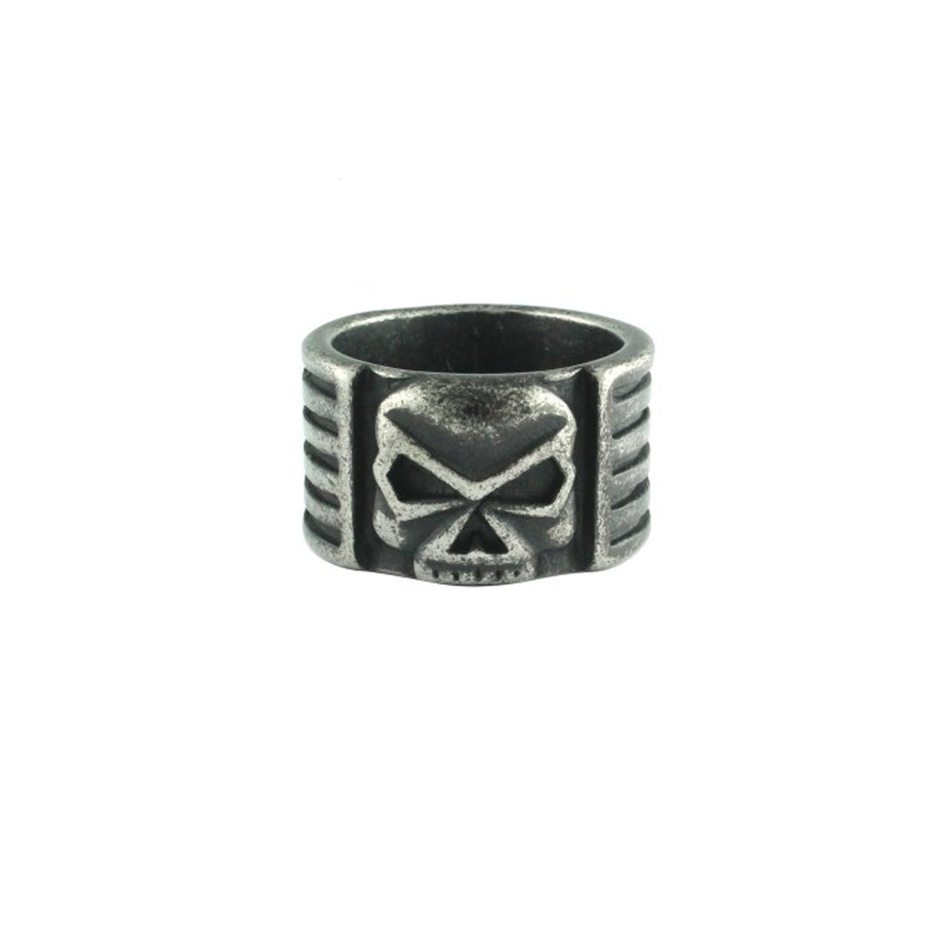 Skull Banger Band Stainless Steel Biker Ring