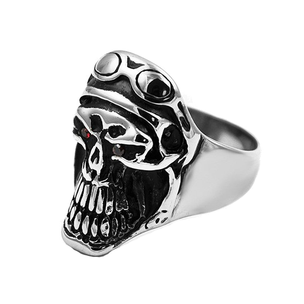 Motorcycle Riding Skull Stainless Steel Biker Ring