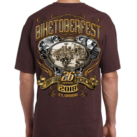 2018 Biketoberfest Daytona Beach Main Street Engine T-Shirt