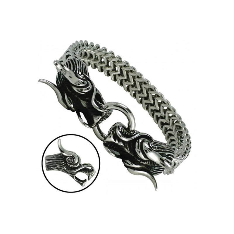 Stainless Steel Dragon Chain Bracelet