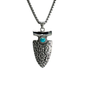 Arrow Turquoise Stainless Steel Necklace