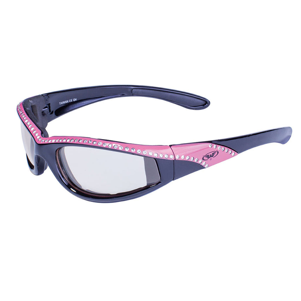 Global Vision Marilyn 11 24 Pink Women's Foam Padded Motorcycle Sunglasses