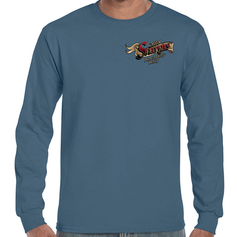 2018 Sturgis Black Hills Rally Rushmore Flag Long Sleeve Shirt