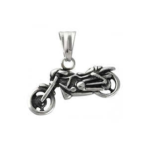 Stainless Steel Motorcycle Outline Pendant