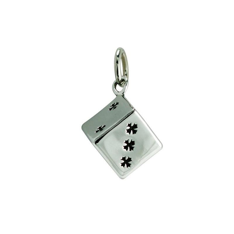 Stainless Steel Dice Pendant