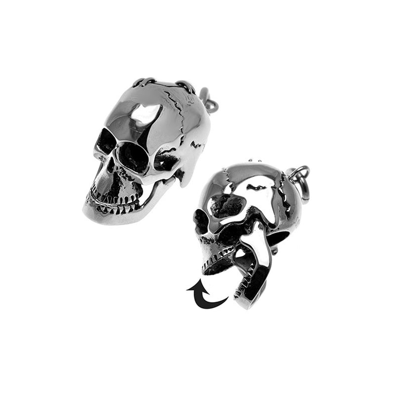 Stainless Steel Skull Mobile Mandible Pendant