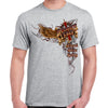 Front of 2019 Sturgis Big Wings Guns T-Shirt in Sport Gray