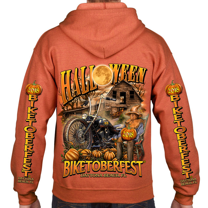 2018 Biketoberfest Daytona Beach Halloween Zip Up Hoodie