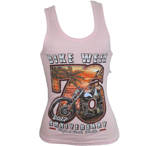 Ladies 2017 Bike Week Daytona Beach Beach Biker Tank Top