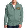 Front of 2019 Sturgis Main Street Engine Zipper Hoodie in Green