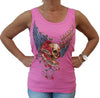 LADIES 2016 ROSE SKULL BIKE WEEK TANK TOP