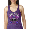Ladies 2020 Bike Week Daytona Beach Pink Eagle Burnout Tank Top