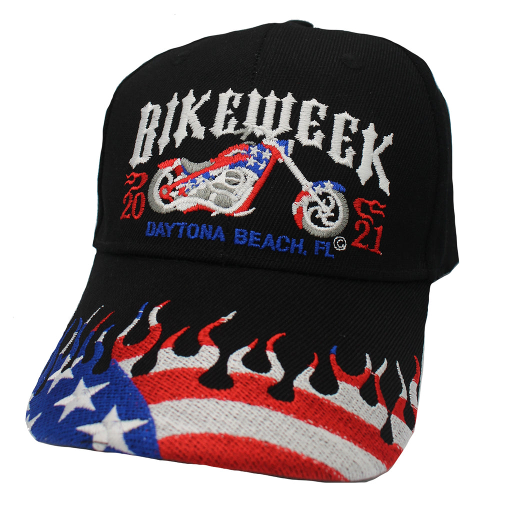 2021 Bike Week Daytona Beach Embroidered American Biker Hat