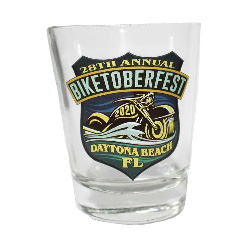 2020 Biketoberfest Daytona Beach Official Logo Shot Glass