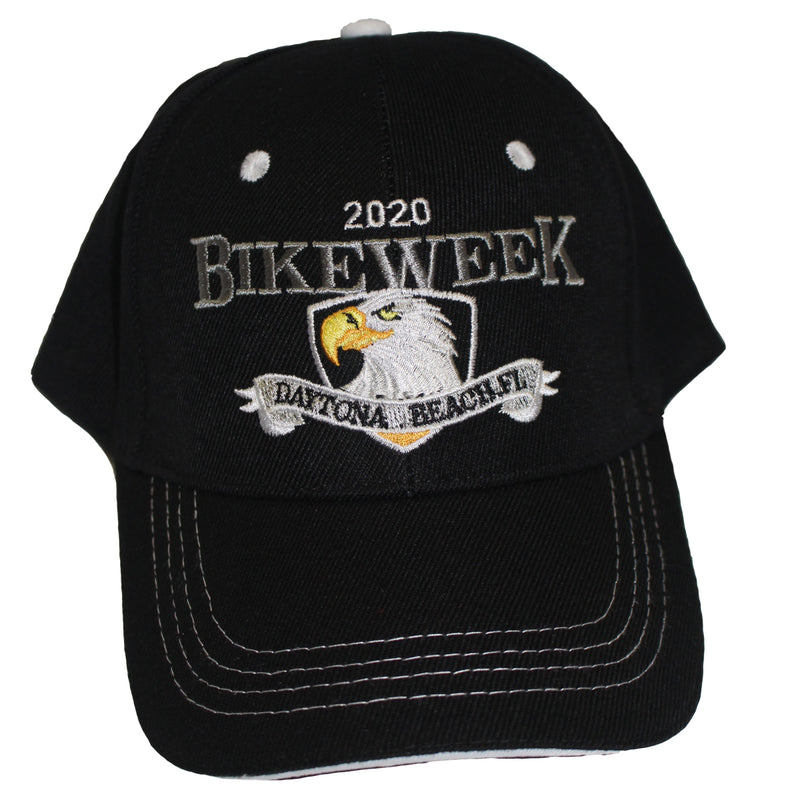 2020 Bike Week Daytona Beach Embroidered Shield Eagle Hat