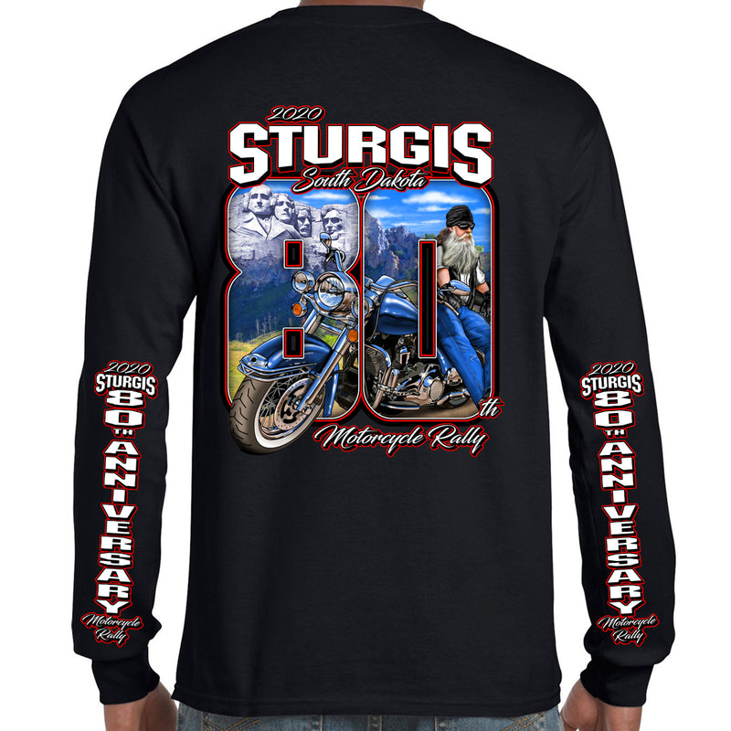 2020 Sturgis Motorcycle Rally 80th Anniversary Long Sleeve