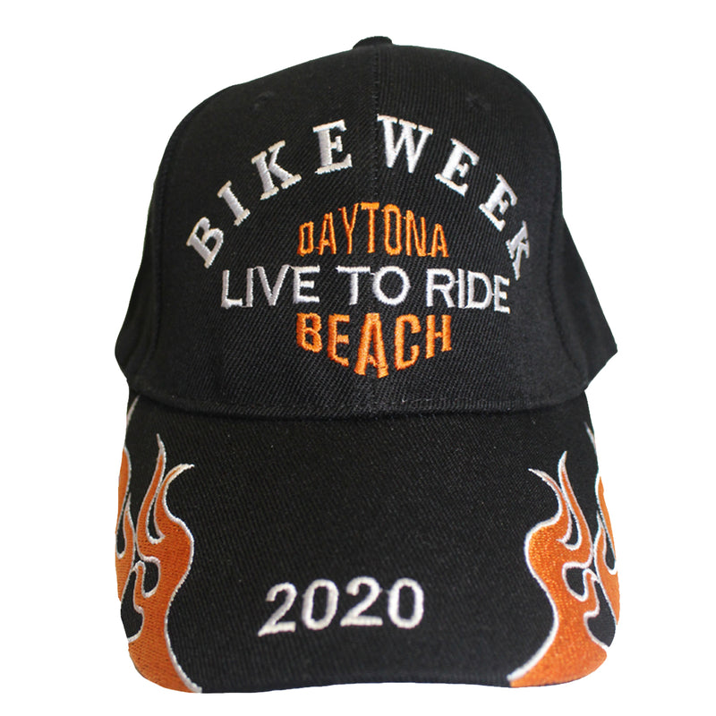 2020 Bike Week Daytona Beach Embroidered Flame Hat