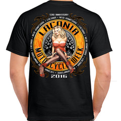 2016 Laconia Motorcycle Week Anna Nicole T-Shirt