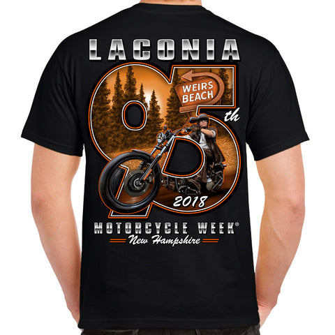 2018 Laconia Motorcycle Week Weirs Biker T-Shirt