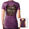 Ladies Big 75th Sturgis 2015 Burnout V-Neck