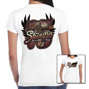 Ladies Big 75th 2015 Sturgis Cap Sleeve Tee - CLEARANCE 50% OFF