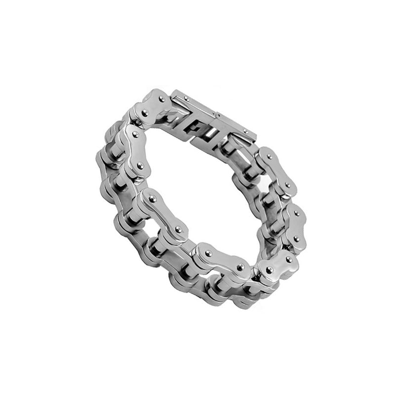Men's Stainless Steel Biker Chain Link Bracelet