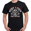 Ride Loud Skull Shield T-Shirt