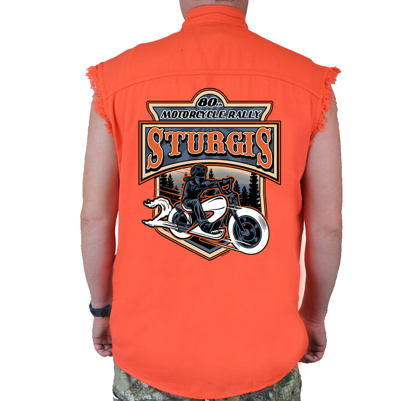 2020 Sturgis Motorcycle Rally Rider Cut-Off Denim