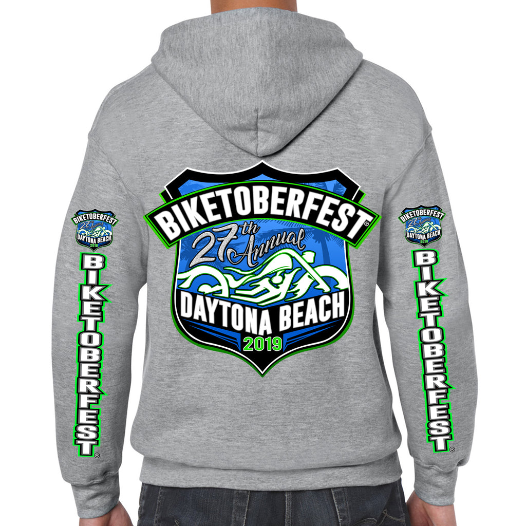 2019 Biketoberfest Daytona Beach Official Logo Zip Up Hoodie