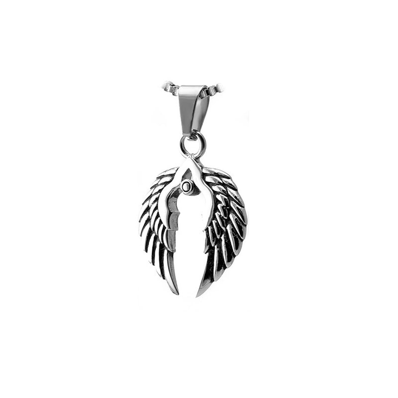 Stainless Steel Double Wings Pendant