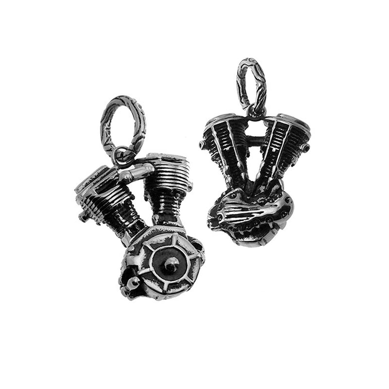 Stainless Steel Motorcycle Engine Small Pendant