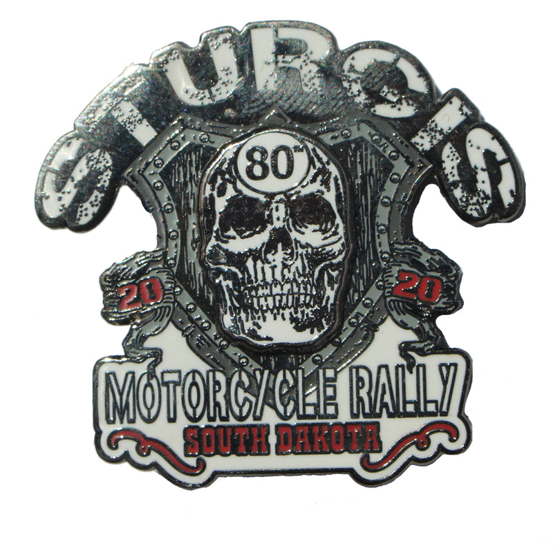2020 Sturgis Motorcycle Rally Skull Shield Pin