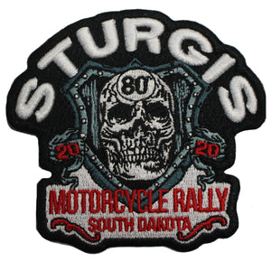 2020 Sturgis Motorcycle Rally Skull Shield Patch