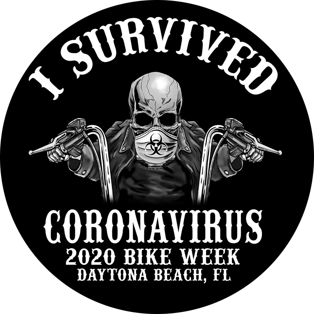 2020 Bike Week I Survived Coronavirus Sticker