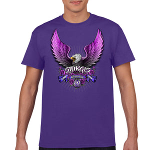 Ladies 2020 Sturgis Motorcycle Rally Pink Eagle T-Shirt