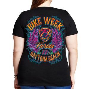 2020 Bike Week Daytona Beach Neon Chick Misses Plus Scoop Neck T-Shirt