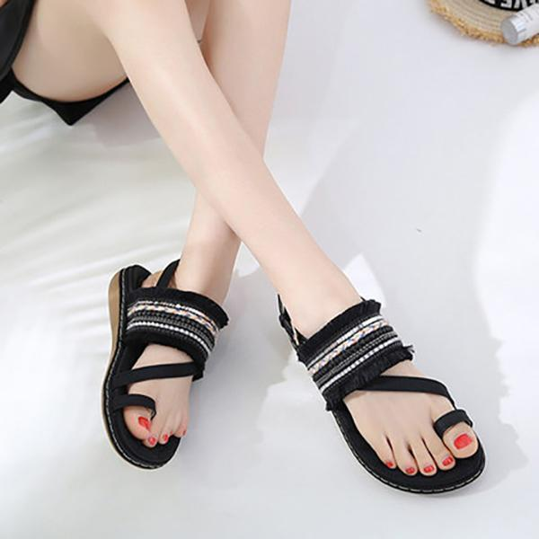 Thishoes Fashion Casual Fringed Beach Sandals