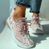 Thishoes Knitted Colorblock Breathable Casual Sneakers
