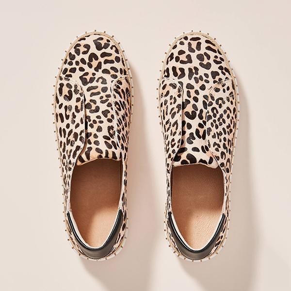 Thishoes Leopard-Printed Slip-On Sneakers