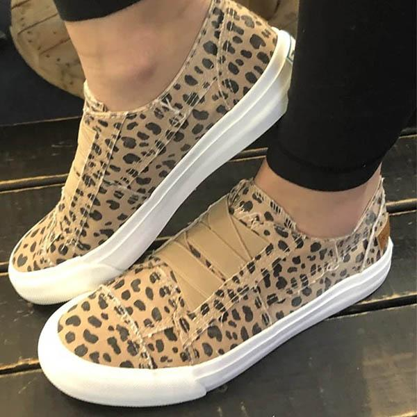 Thishoes Women Latte Spots Slip on Sneakers
