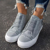 Thishoes Low Heel All Season Canvas Sneakers