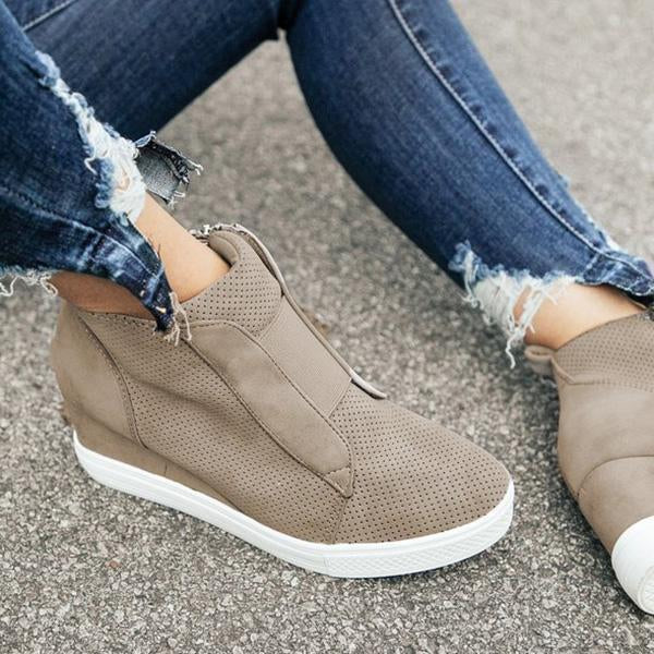 Thishoes Fashion Stylish Daily Wedge Sneakers