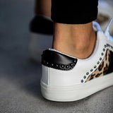 Thishoes Studded Leopard Sneakers