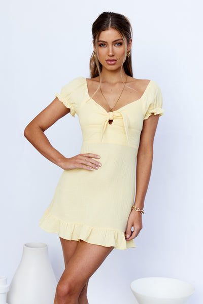 Only Desire Dress Yellow