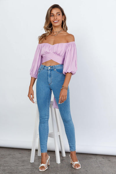 Living Doll Crop Top Lilac